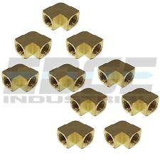 10 Pack Brass Elbow Fitting 90 Degree 1/2 Female Npt Pipe Thread Tubing Air Fuel