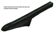 GREEN STITCH LEATHER HANDBRAKE GAITER FITS FORD ESCORT MK3 MK4 XR3I RS TURBO