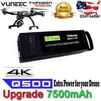 7500mAh 11.1V 3S Li-Po Ultra Battery Yuneec Typhoon Drone+Q500+PRO 4K Quadcopter