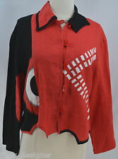Alissa geometric decoration blazer light jacket coat asymmetrical XS NEW VTG 80s