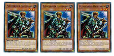 3 x Beastman Hauptmann YS17-DE012, Common, Playset, Link Strike, Mint