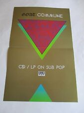 Goat Commune Poster 2014 Sub Pop Limited Promotional 11X17 New