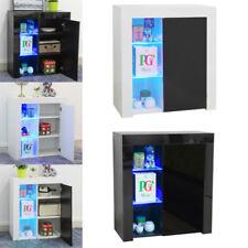 High Gloss Sideboard Wall Side Cabinet Display Shelf LED Lighting Unit Cupboard