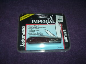 New 1987 Barlow Knife Imperial Schrade Corp Never Opened........NR