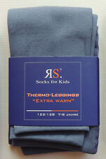 KINDER WINTER THERMO LEGGINGS  HOSE  INNENFLANELL   MÄDCHEN  GR. 110 - 140