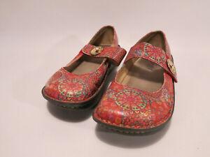Alegria PG Lite PAL 393 EU 37 US ~7 Pink Floral Mandala Mary Jane Shoes