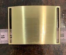 Gold Rectangular Metal Brushed Belt Buckle 65 X 45 Mm Fastening