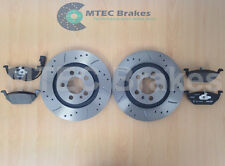 A3 1.9 TDi 110 Drilled Grooved Brake Discs Front Pads