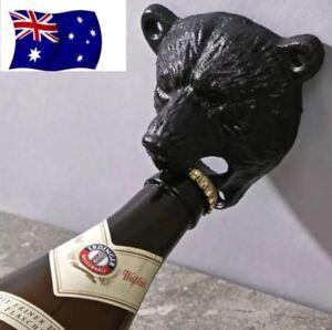 Bear Head Wall Mounted Bottle Opener Beer Bar Corona Iron Heavy Duty Heineken