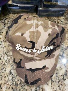 SEAN JOHN MEN'S GREEN BLACK CAMOUFLAGE BALL CAP HAT ADJUST OSFA MSRP $32 NWT