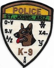 K-9  DHF ARIZONA St. Johns  Police Patch Polizei Abzeichen Hundeführer USA