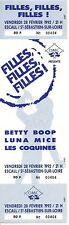 RARE / TICKET DE CONCERT - FILLES BETTY BOOP LUNA MICE LES COQUINES - LIVE 1992
