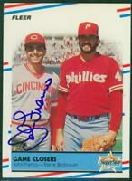 Original Autograph of John Franco of the Reds on a 1988 Fleer Card