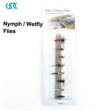 Nymph And Wet Fly Flies 12# Hook Assortment For Fly Fishing 8 Patterns
