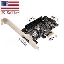 PCI-E PCI Express eSATA II SATA II IDE 3.5 Card Adapter Converter US Stock