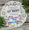 Nana Papa * Grandparents MAGNET Pretty floral fridge Gift NEW Decowords USA
