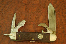 VINTAGE ULSTER USA BOY SCOUTS OF AMERICA BSA DELRIN SCOUT KNIFE NICE (1789)