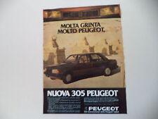 advertising Pubblicità 1982 PEUGEOT 305