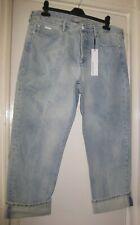 BNWT CALVIN KLEIN JENNY BOYFRIEND ERODED SANDY BLUE JEANS W31 UK12-14  RRP £130