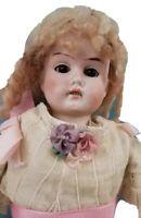 "Antique 12"" Bisque Shoulder Head German Doll '1910'"