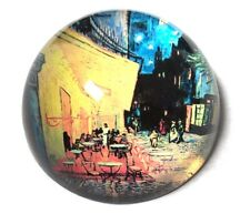 Van Gogh Cafe Terrace At Night Glass Desktop Dome Paperweight French Street