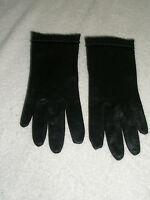 Vintage Ladies Gloves Dress Black Made in West Germany