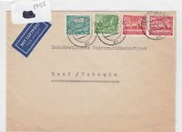 German Postal History Stamps Cover 1955 Ref 8730