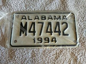 ALABAMA **CLEARANCE £4.99** 1994 MOTORCYCLE USA Genuine Pre-Owned License Plate