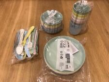 Ikea KALAS Set of 36 pc (Mugs Bowls Plates Cutlery) for Baby Kids Birthday Party