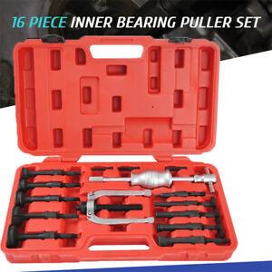 16pcs Inner Bearing Blind Hole Remover Extractor Puller Set Slide Hammer Kit UK