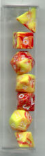 New MINI-RPG Dice Set of 7 (Tube) - Toxic Yellow - Red