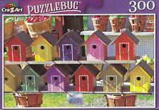 Puzzlebug 300 Piece Jigsaw Puzzle ~ Painted Wood Birdhouses