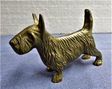 Vintage Solid Brass Scottie Dog Figurine Scottish Terrier
