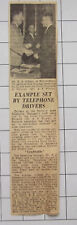 1959 Norwich Area Telephone Drivers Set Good Example Mr R A Gibson Mr A F Plume