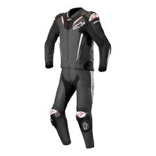 Alpinestars Atem V3 2 Piece Leather Motorcycle Motorbike Race Suit Black & White
