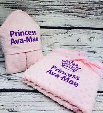 PERSONALISED Baby Hooded Towel Monogram Initials /& Full Name D.O.B Keepsake Gift