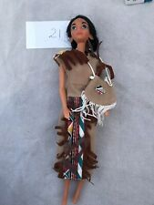 Vintage Pocahontas Disney Doll by Mattel Dressed With Bag