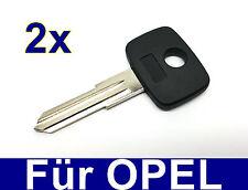 2x remplacement ébauche de clef clé pour Opel Royale