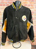 Vintage Pittsburgh Steelers NFL Football Leather Lettermans Jacket Mens Sz Large