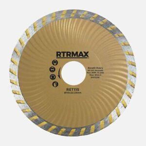 "115mm Diamond Cutting Discs 4.5"" Tile Stone & Concrete  Marble Grinder Blade"