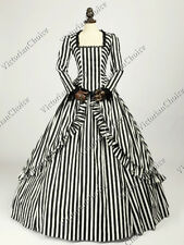 Victorian Civil War Gone with The Wind Dress Stempunk Theater Ball Gown 321 M