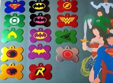 Justice league Batman Batgirl superman wonder woman Personalised Dog ID Tag disc