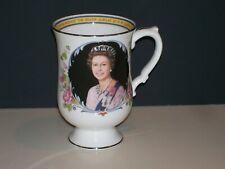 Large CROWN STAFFORDSHIRE Queen Elizabeth II Silver Jubilee Mug. *BEAUTIFUL*