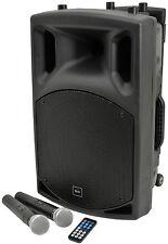 QTX QX12PA Portable PA System Battery Bluetooth USB 2 x VHF Handheld **B STOCK**