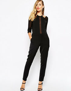 Supertrash Womens Black Wizard Sheer Jumpsuit UK Size 12 & 14 Brand New RRP £140