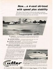 1961 CUTTER SCAMP Runabout Ski-boat VINTAGE Print Ad