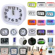 LED Digital Snooze Bedside Electronic Alarm Clock Table Decors Small Portable