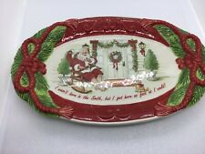 Fitz And Floyd Southern Christmas Serving Platter I wasn't born in the south