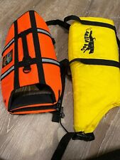 Outward Hound Aqua Dog Orange Pet Dog Safety Life Jacket Vest Lot Of 2 S/M