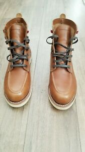Wolverine - 1000 Mile - Louis Tan Leather Wedge Boots 10.5M